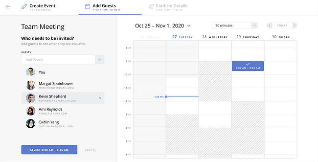 Group scheduling tool by Calendar