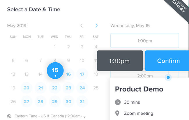 Group scheduling tool by Calendly