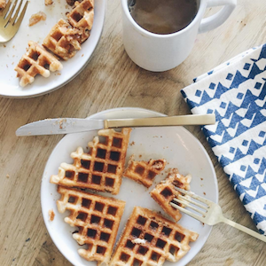 Califia Farms Instagram showing waffles