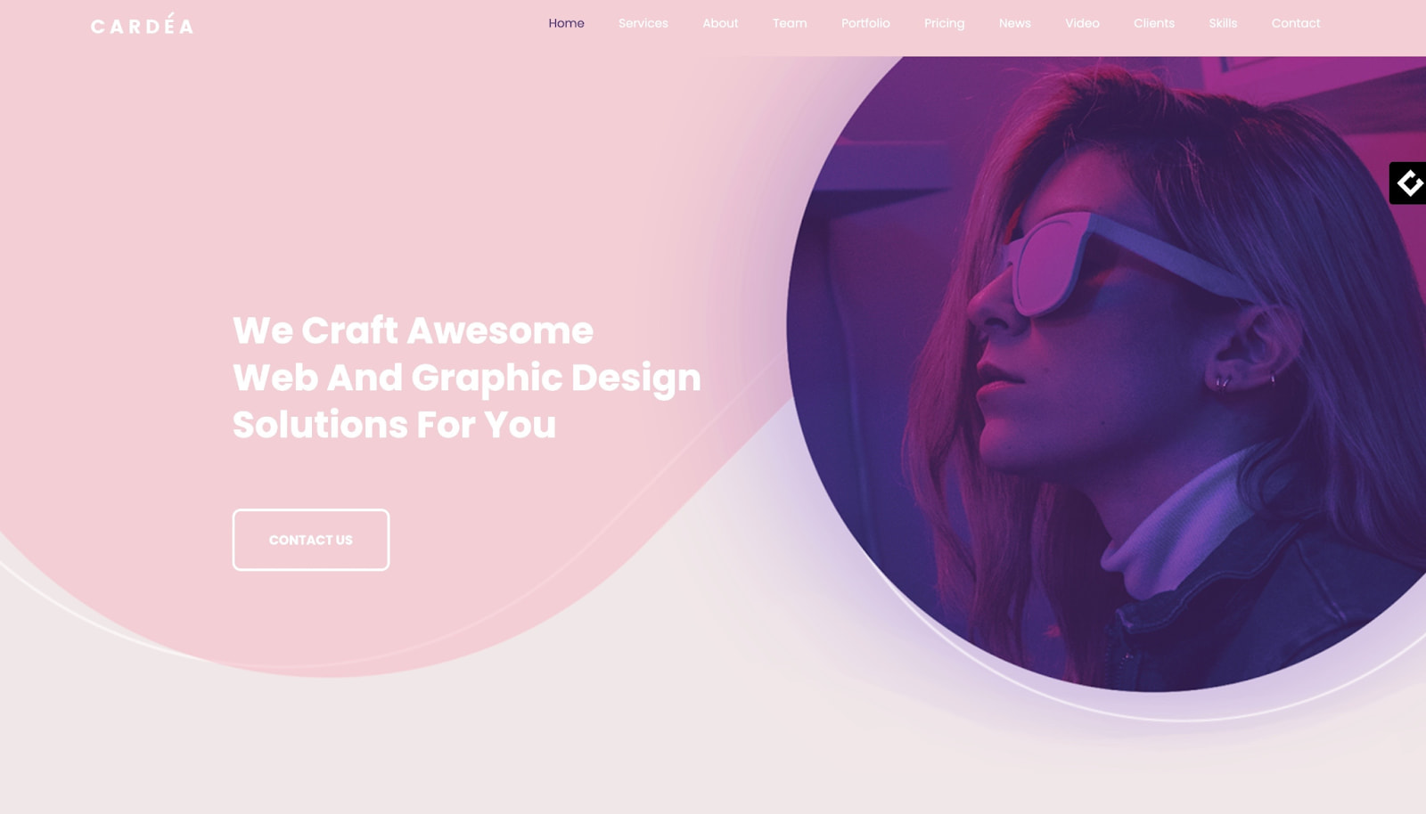 One-page WordPress theme demo for Cardea