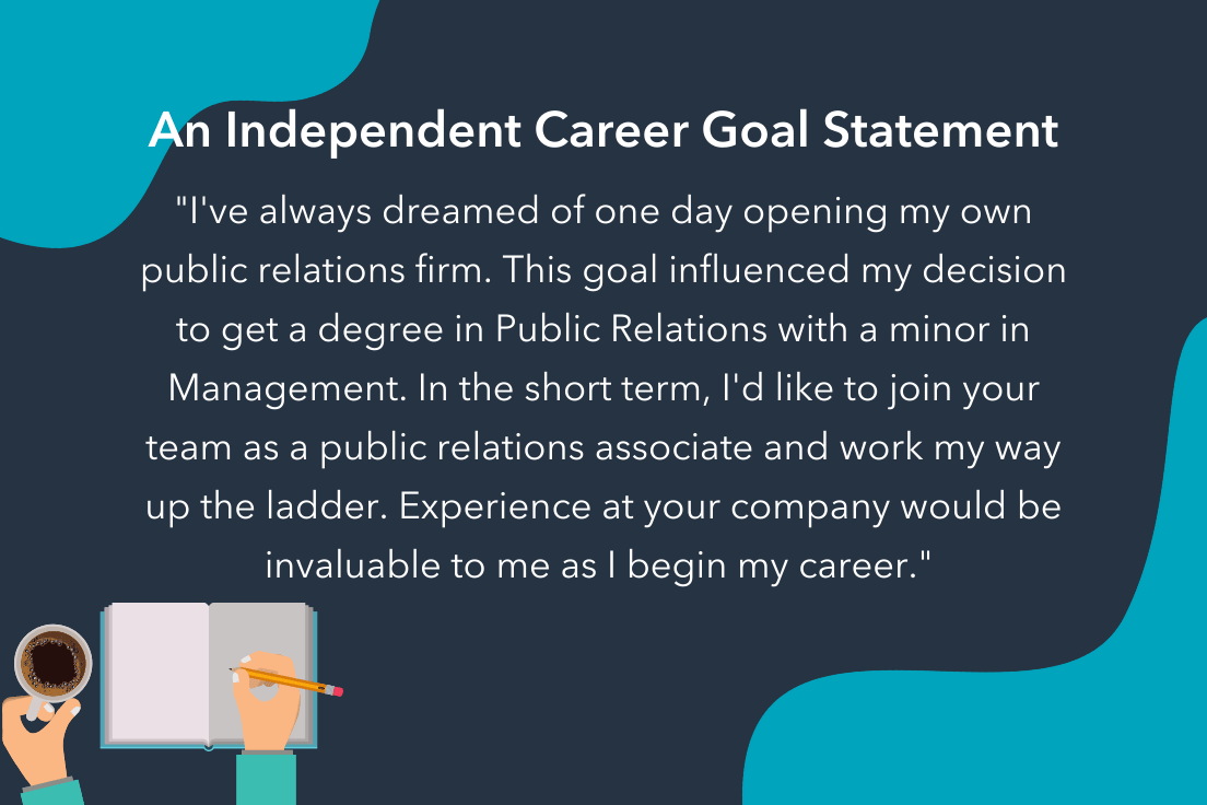 career goals statement example for business owner