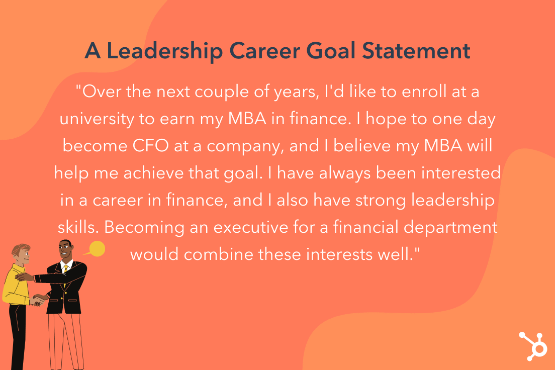 career goals statement example for leadership