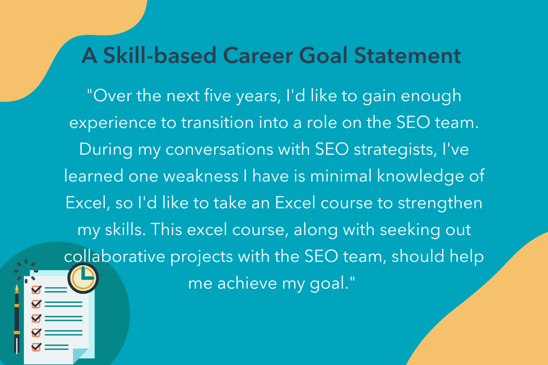 career goals statement example for new skills