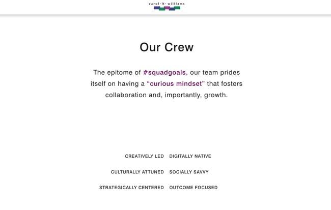 Company description example: Carol H. Williams