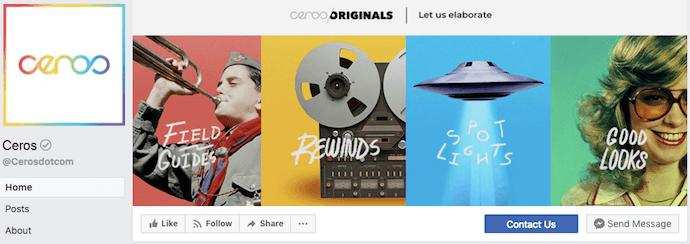 Ceros Facebook Business Page