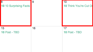 Ändern des Namens of Post in Google Editorial Calendar