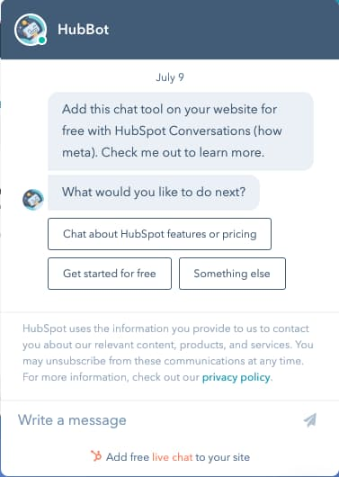 sales enablement from chatbots