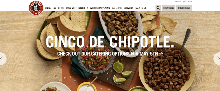 chipotle-homepage-design-compressed.png  20 of the Best Website Homepage Design Examples chipotle homepage design compressed