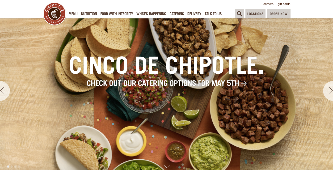 chipotle-homepage-design.png  20 of the Best Website Homepage Design Examples chipotle homepage design