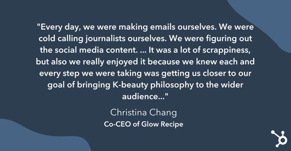 کریستینا چانگ در مورد روزهای اولیه Glow Recipe به عنوان یک استارتاپ بحث می کند