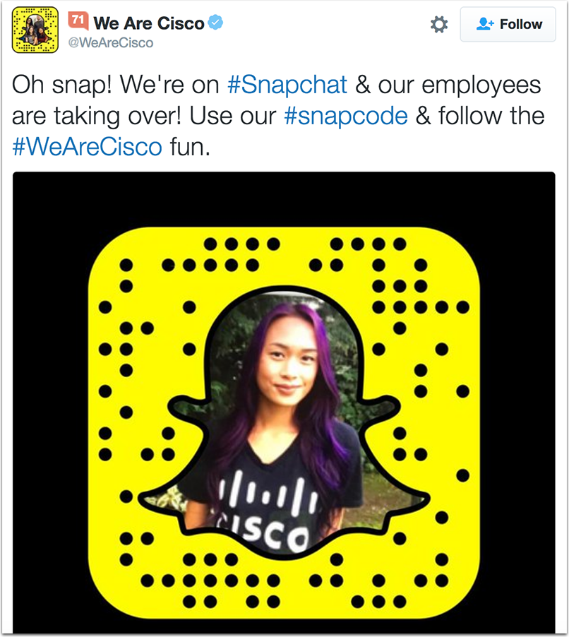 cisco-1.png  How to Attract Talent With a Company Hashtag: 10 Inspiring Examples cisco 1