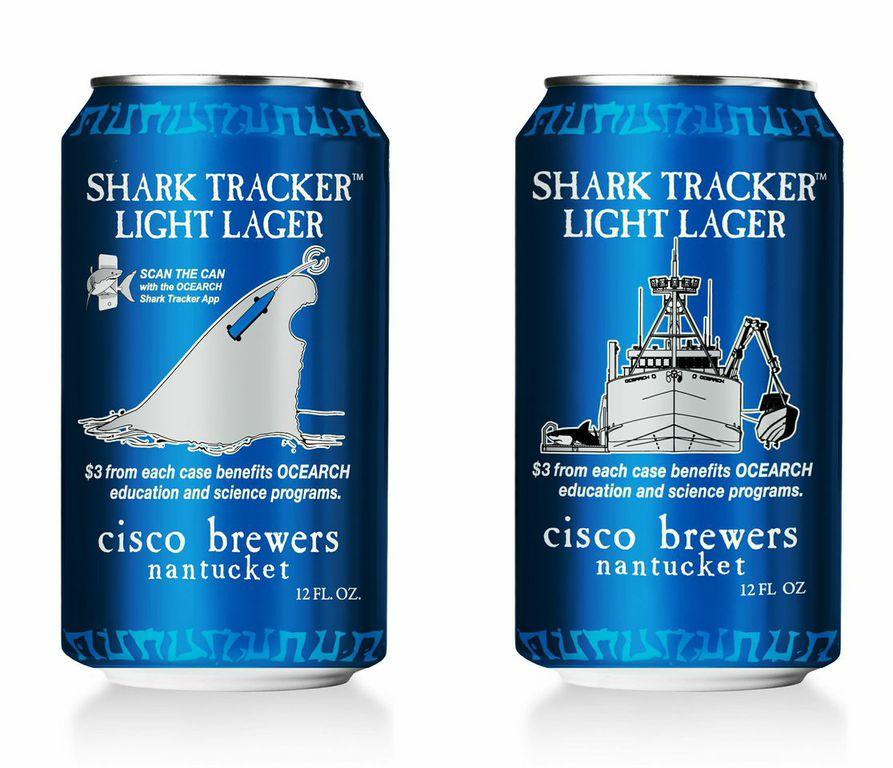 cisco-shark-tracker-light-lager.jpeg  The 14 Coolest Beer Label Designs You've Ever Seen cisco shark tracker light lager
