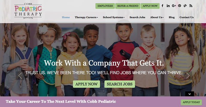 cobb pediatric therapy homepage designpng - Best Home Page Design
