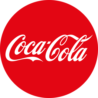 Example of brand identity using the red Coca-Cola logo