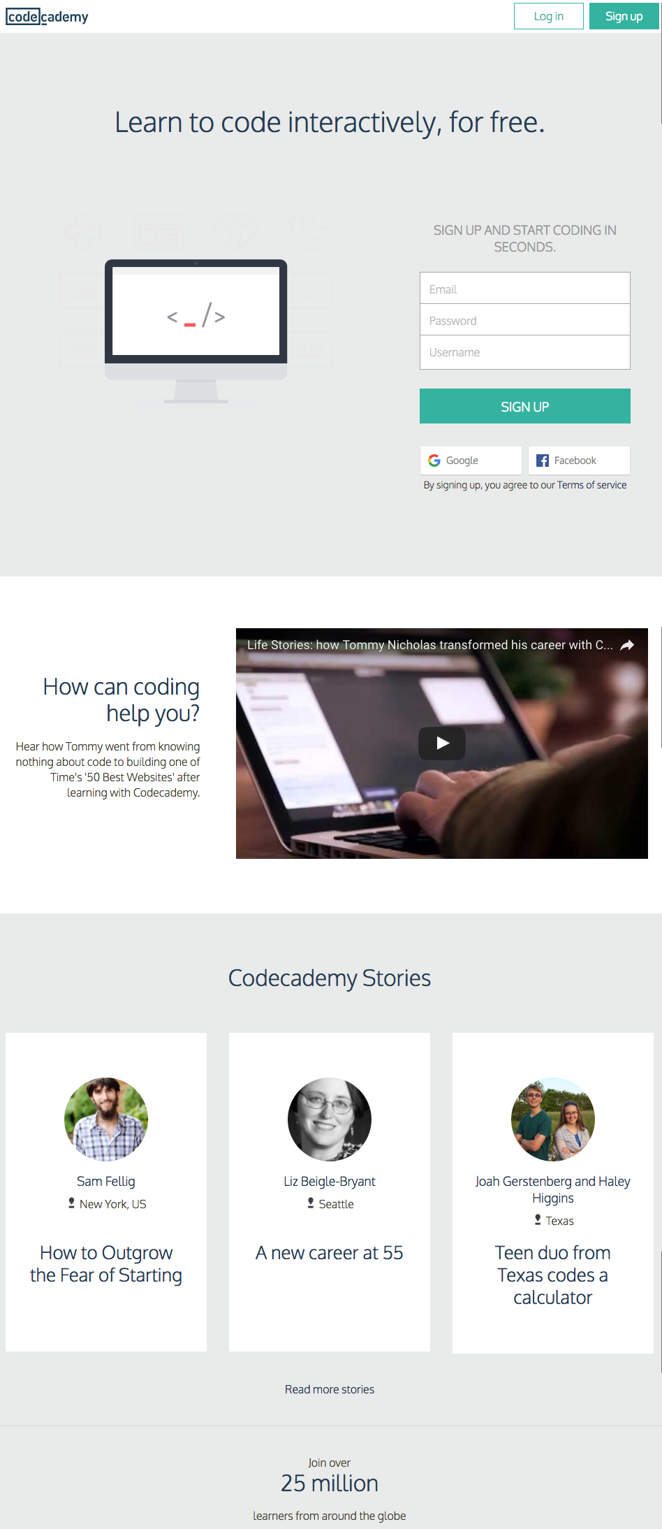 Codecademy網站,homepage.png