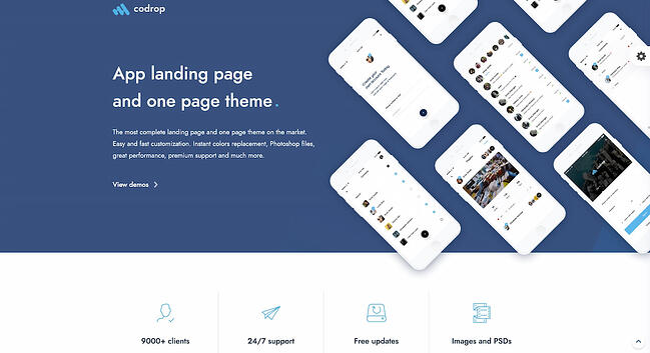 One-page WordPress theme demo for Codrop