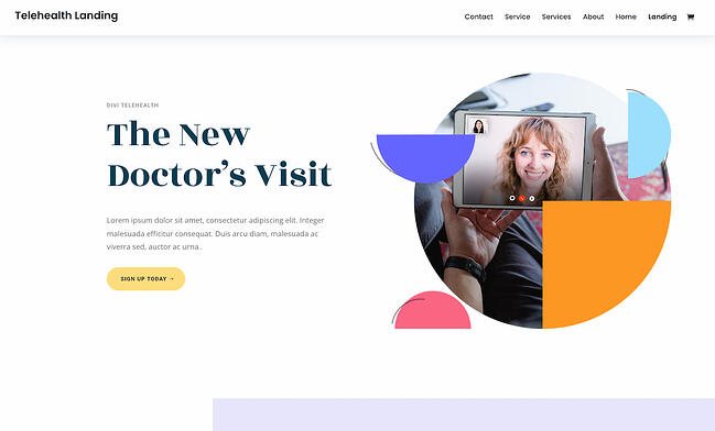 Colorful WordPress themes: Divi