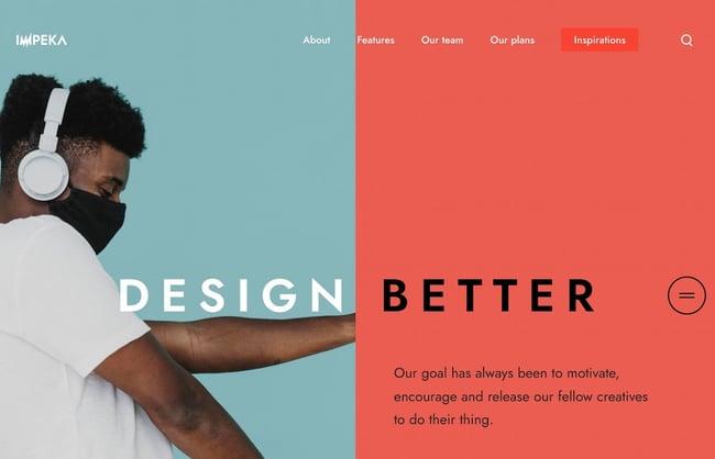 Colorful WordPress themes: Impeka