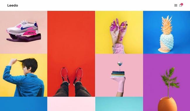 Colorful WordPress themes: Leedo