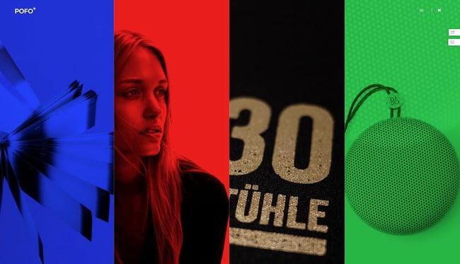 Colorful WordPress themes: Pofo