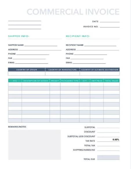 picture regarding Printable Commercial Invoice known as Educated Monthly bill Layout: 16 Samples Templates in the direction of
