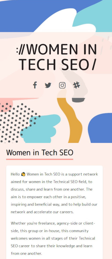 Marketing Technique: Community Building Example for Women in the Tech SEO Community