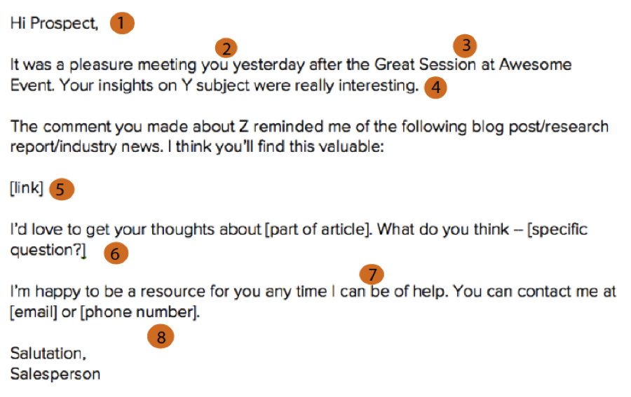 The Anatomy of a Perfect Networking Follow-Up Email [Template]