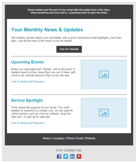 Newsletter Software Tools: Constant Contact