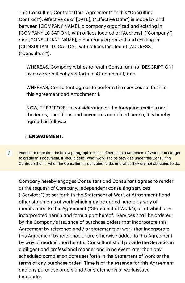 template for consulting contracts