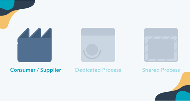 Consumer and supplier value stream map icon
