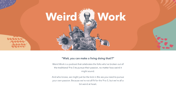 content distribution example podcast weird work hubspot