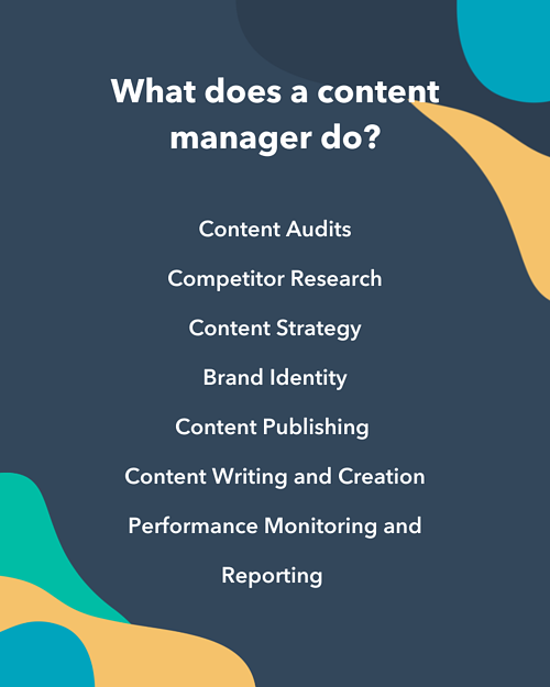 Content manager responsibilities