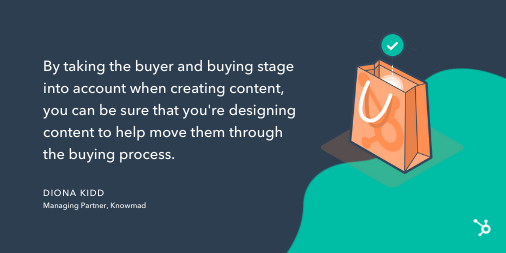 Content mapping tip from Diona Kidd
