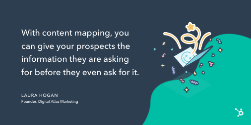 Content mapping tip from Laura Hogan