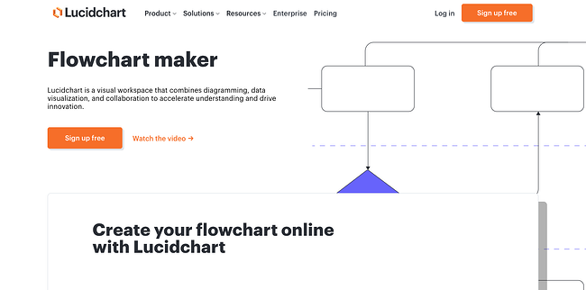 Content mapping tools: Lucidchart