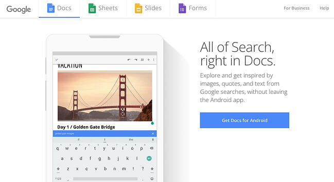 Content mapping tools: Google Docs