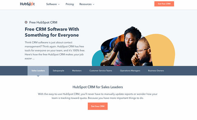 Content mapping tools: HubSpot's CRM