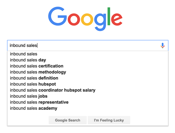 google search inbound sales