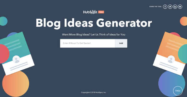 blog topic generator tool