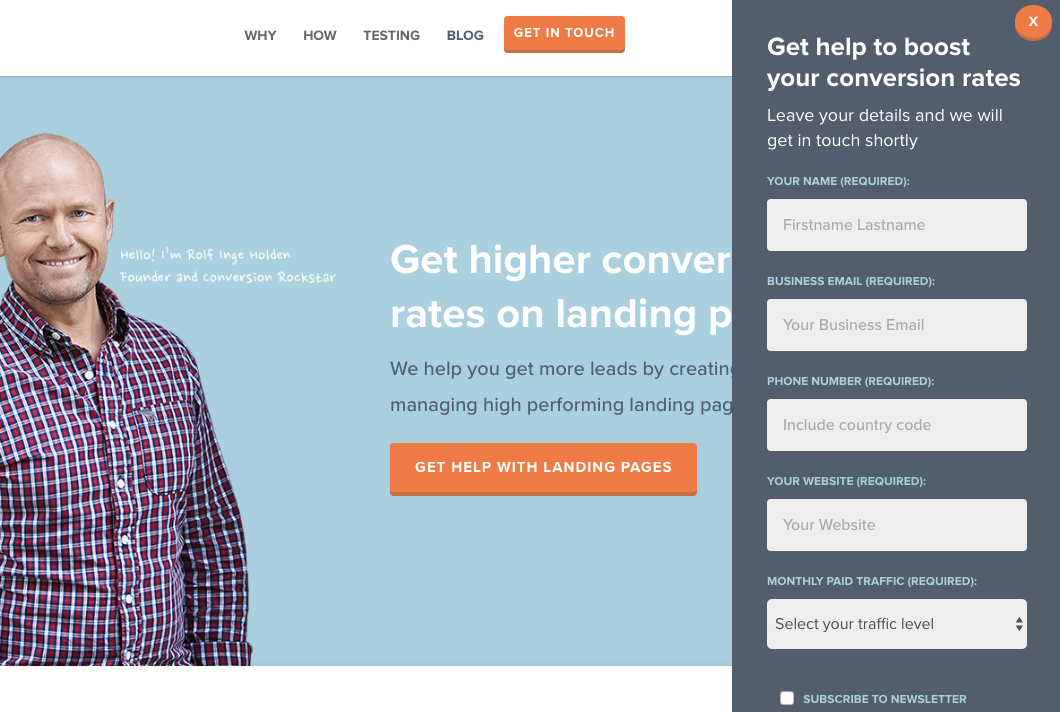 19 of the best landing page design examples you need to see in 2019conversion lab landing page 2 png