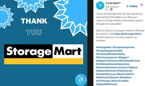 Storage Mart's corporate sponsorship example