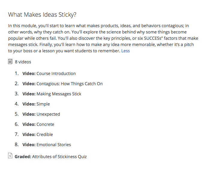 Coursera content marketing course list