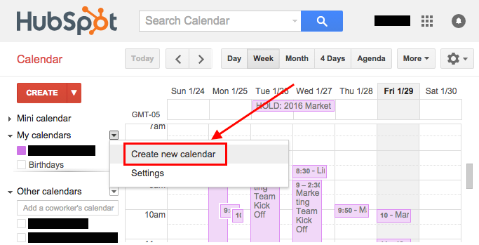 How to create an editorial calendar using google calendar free create new calendar 1g pronofoot35fo Gallery