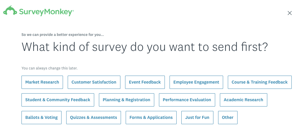 how to create a survey on surveymonkey step 1