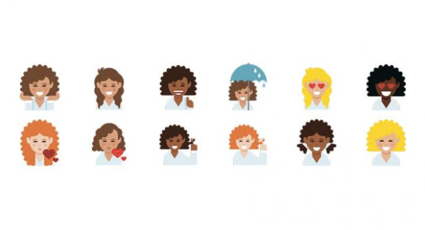 curly_hair_emojis.png  Easy as ?: How to Boost Engagement with Emoji Push Notifications curly hair emojis