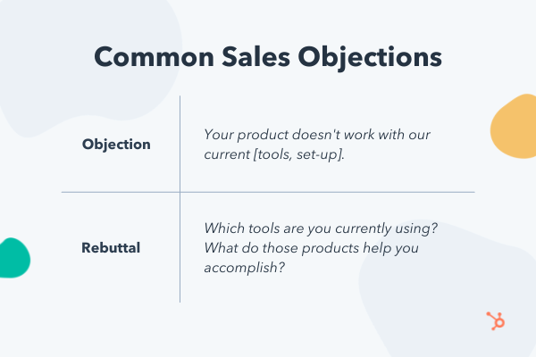 Common sales objections and rebuttals about integration with current tools