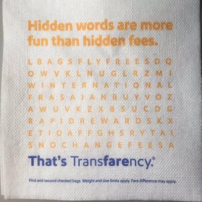customer advocacy southwest napkin