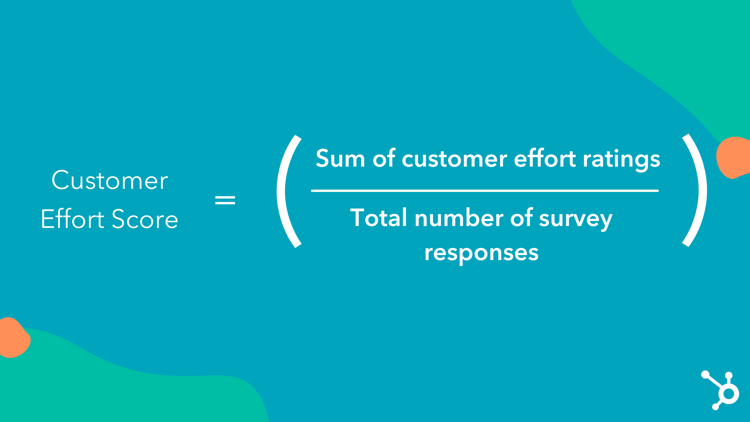 graphic displaying the customer effort score calculation formula