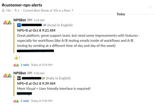 nps detractor: customer nps channel