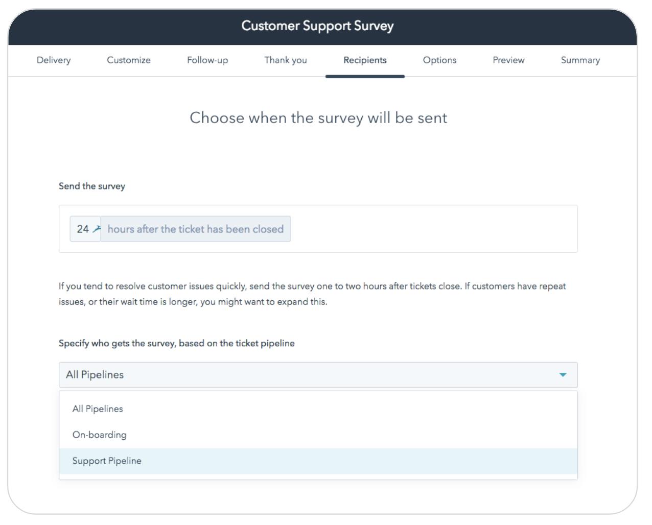 customer support survey
